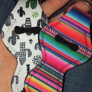 Other - Serape Keychain chapstick holder